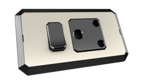 Skin vibrant with 16A 3-pin round switched socket outlet with black.