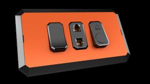 Orange vibrant with black.